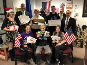 District holiday card collection for Soldiers and Veterans