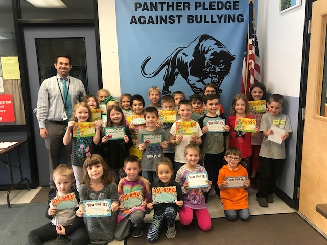 October Panther Pledge Certificate Winners