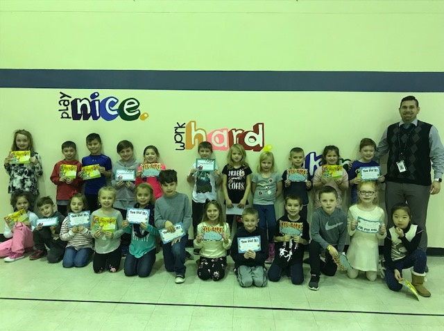 December Panther Pledge Certificate Winners