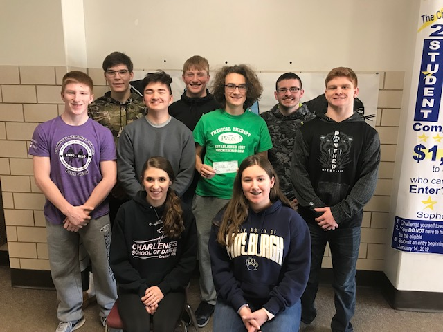 The PCHS wrestling booster club and the Penn Cambria Pink Panthers recently held a pink night and raised money for local survivors.