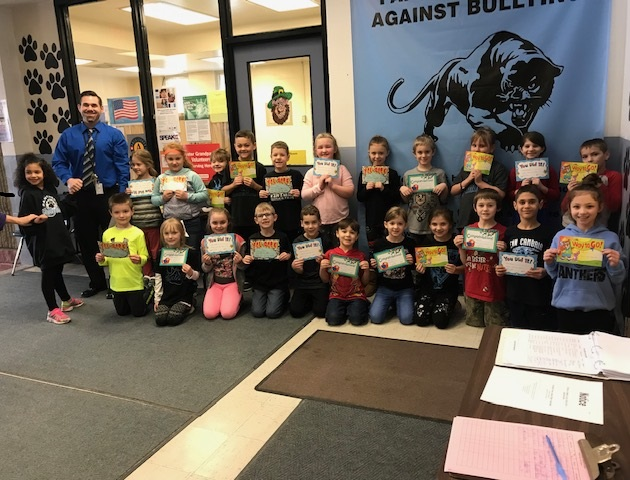 February Panther Paw Certificate Winners