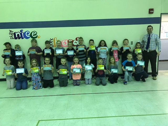 March Panther Pledge Certificate Winners