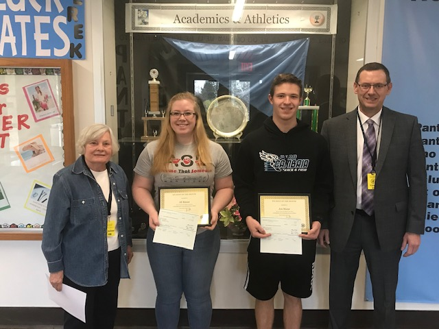 Lions Club Students of the Month for April