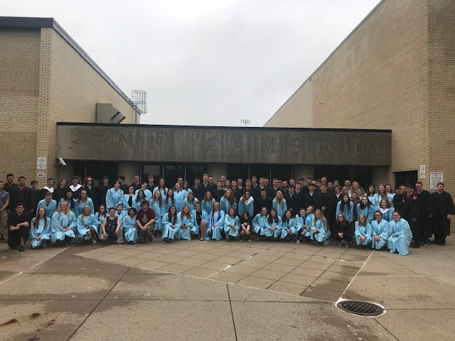 Seniors are participating in a Memory Walk today, visiting the Pre-Primary, Primary, Intermediate and Middle Schools.