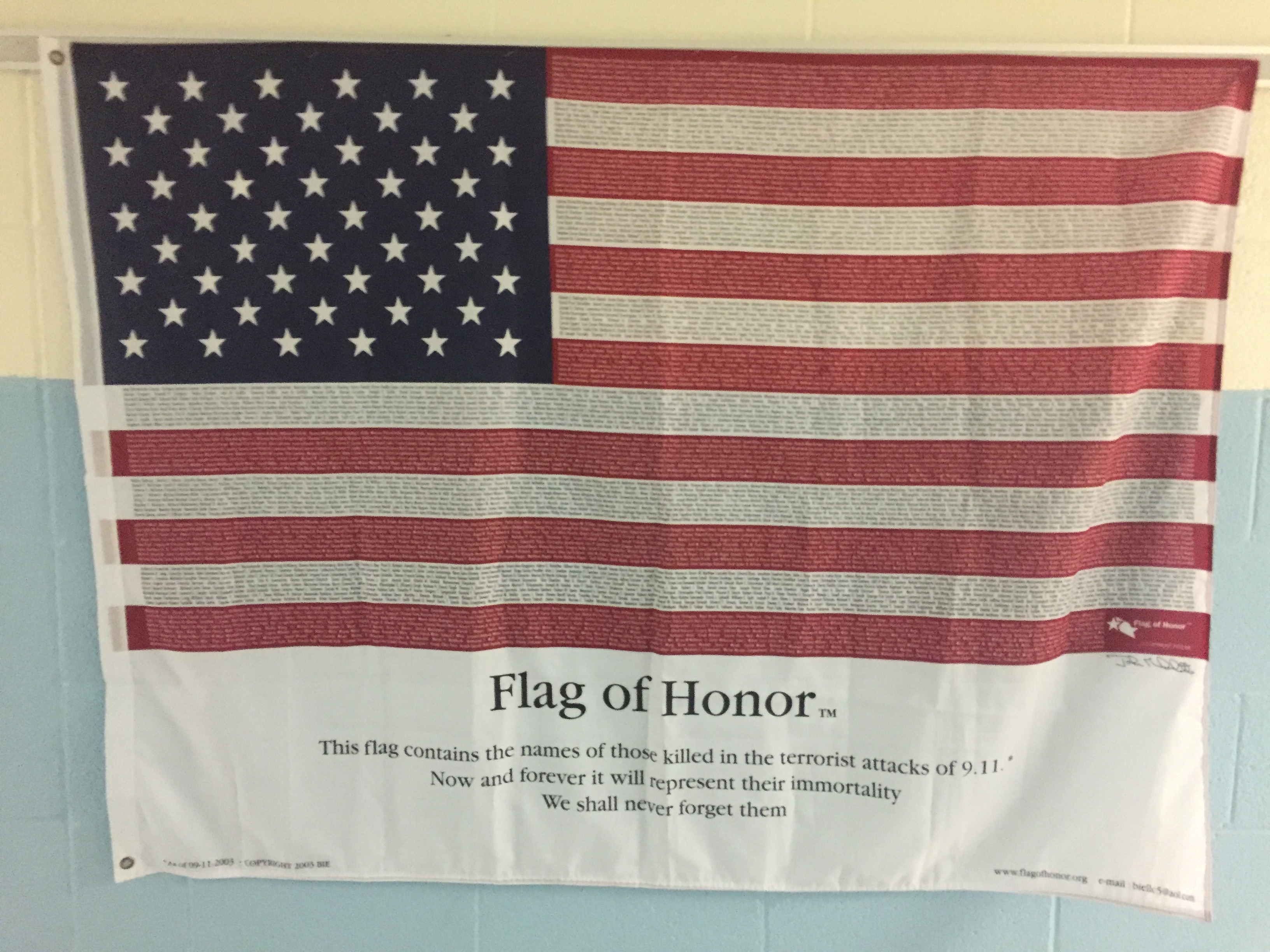 PCMS Remembers 9/11