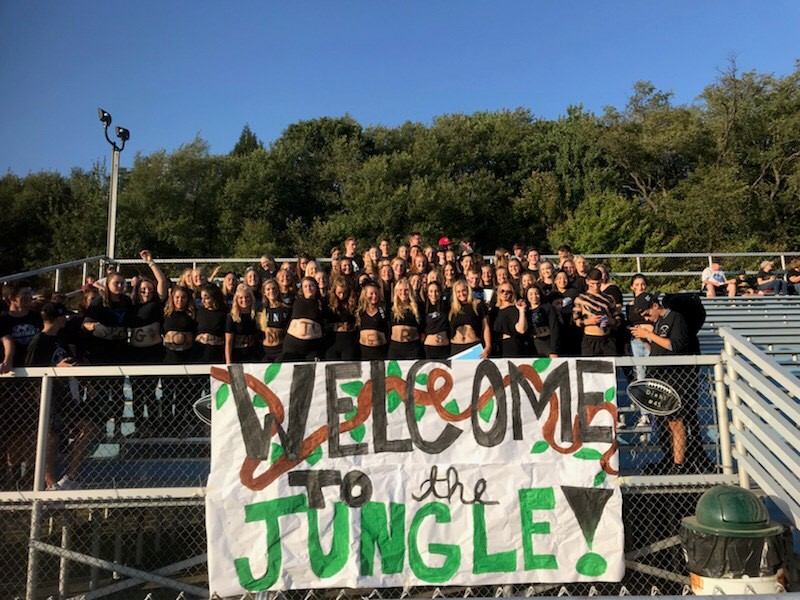 Penn Cambria vs Central Cambria Football Game Student Section
