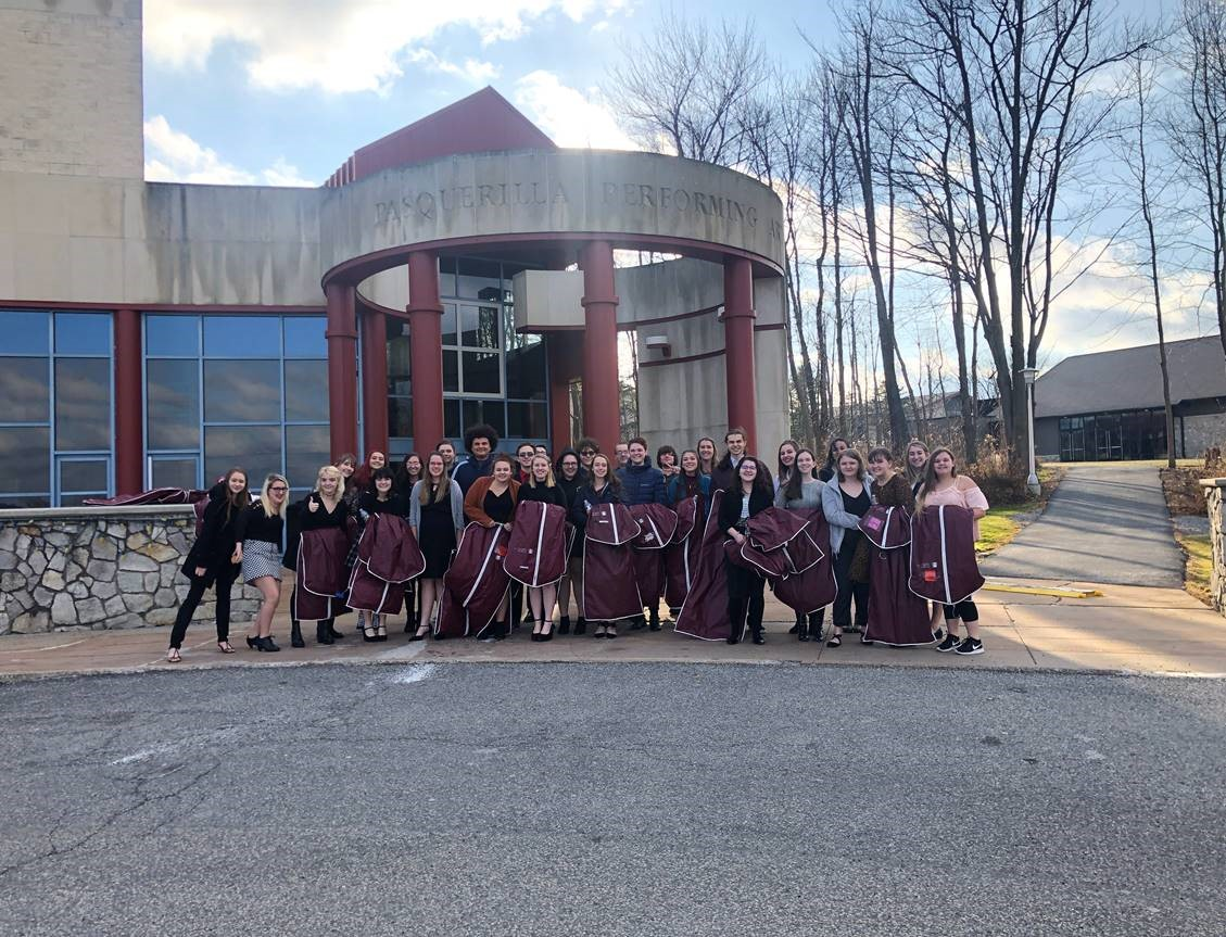 The high school chorus performed for WJAC TV's a Choral Christmas. They recorded at the Pasquerilla Performing Arts Center on UPJ's campus.