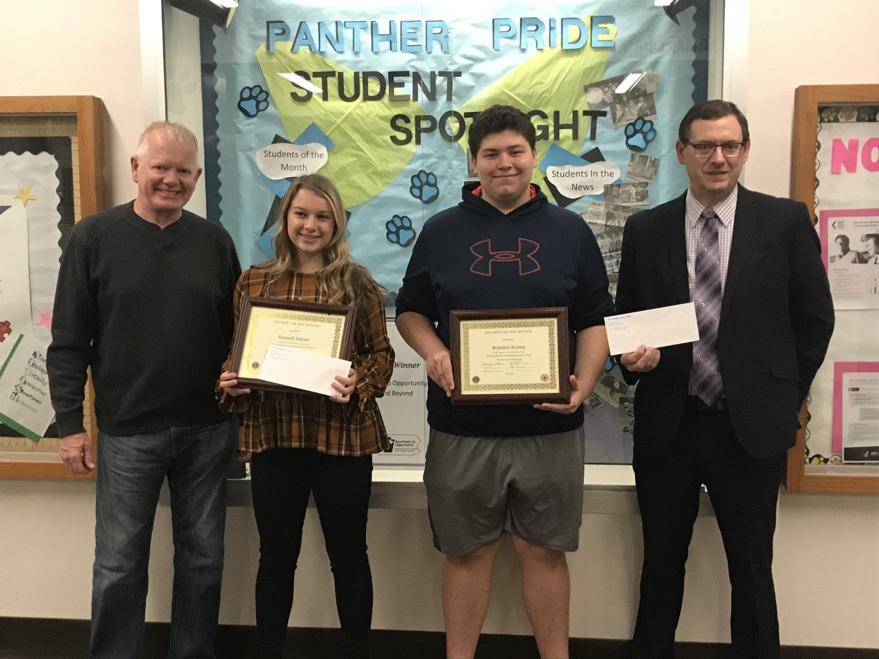 Lions Clubs Students of the Month for October