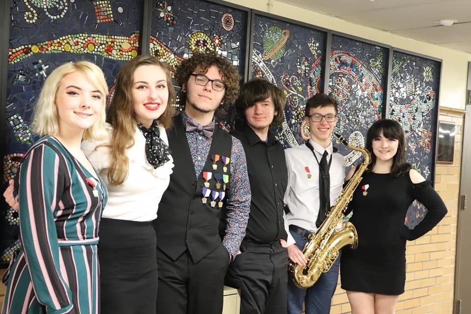 District Jazz Students