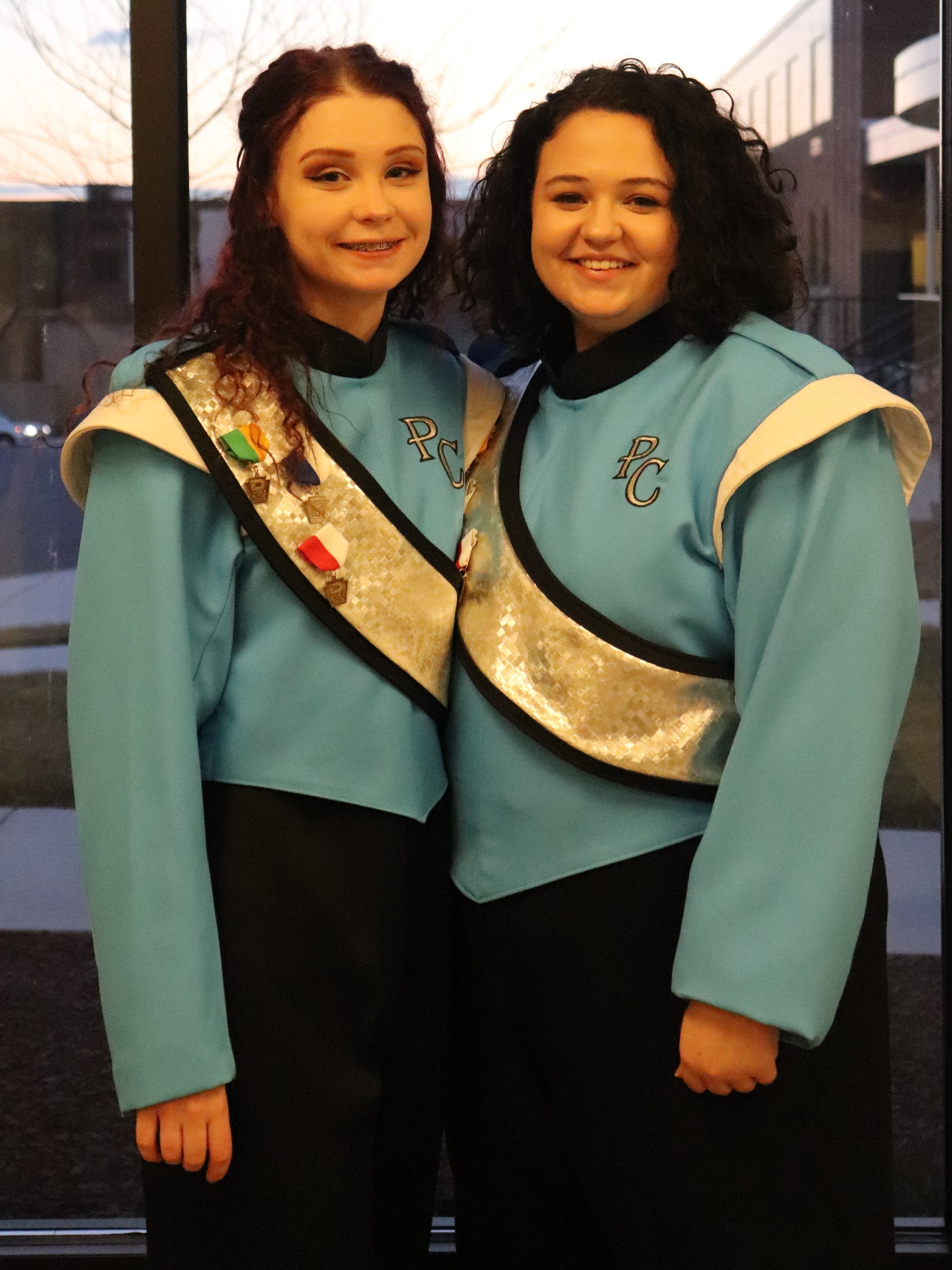 Morgan McConnell and Emily Riggleman performed February 14 at the PMEA District 6 concert in Everett.