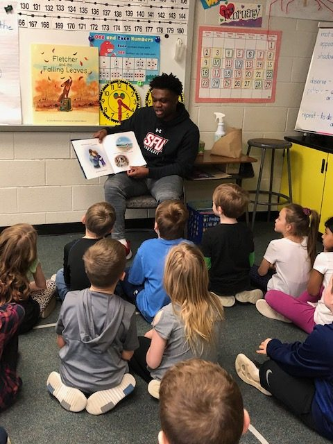 SFU Student-Athletes read to our students