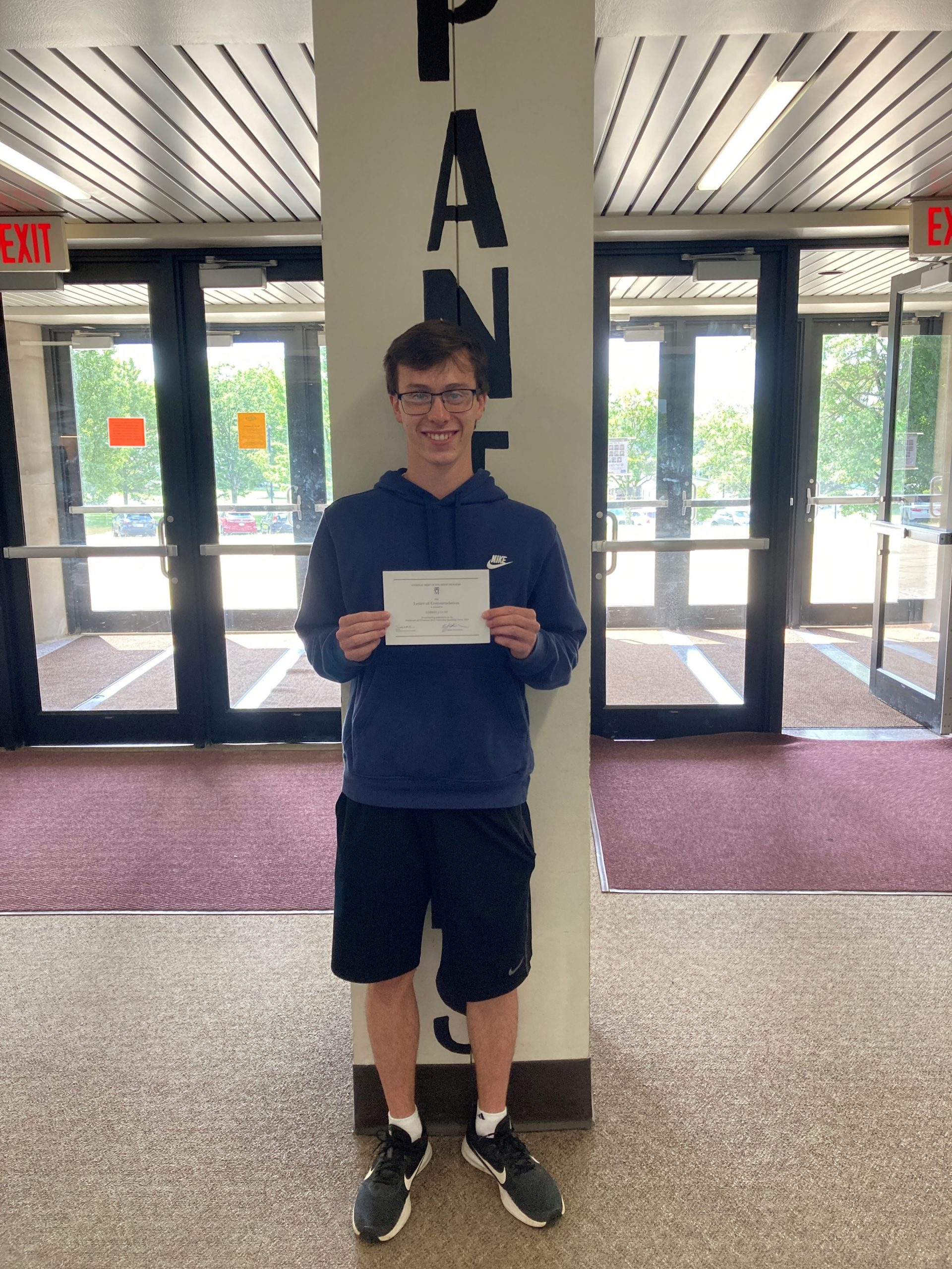 Gabe was a Commended Student in the 2021 National Merit Scholarship Program.