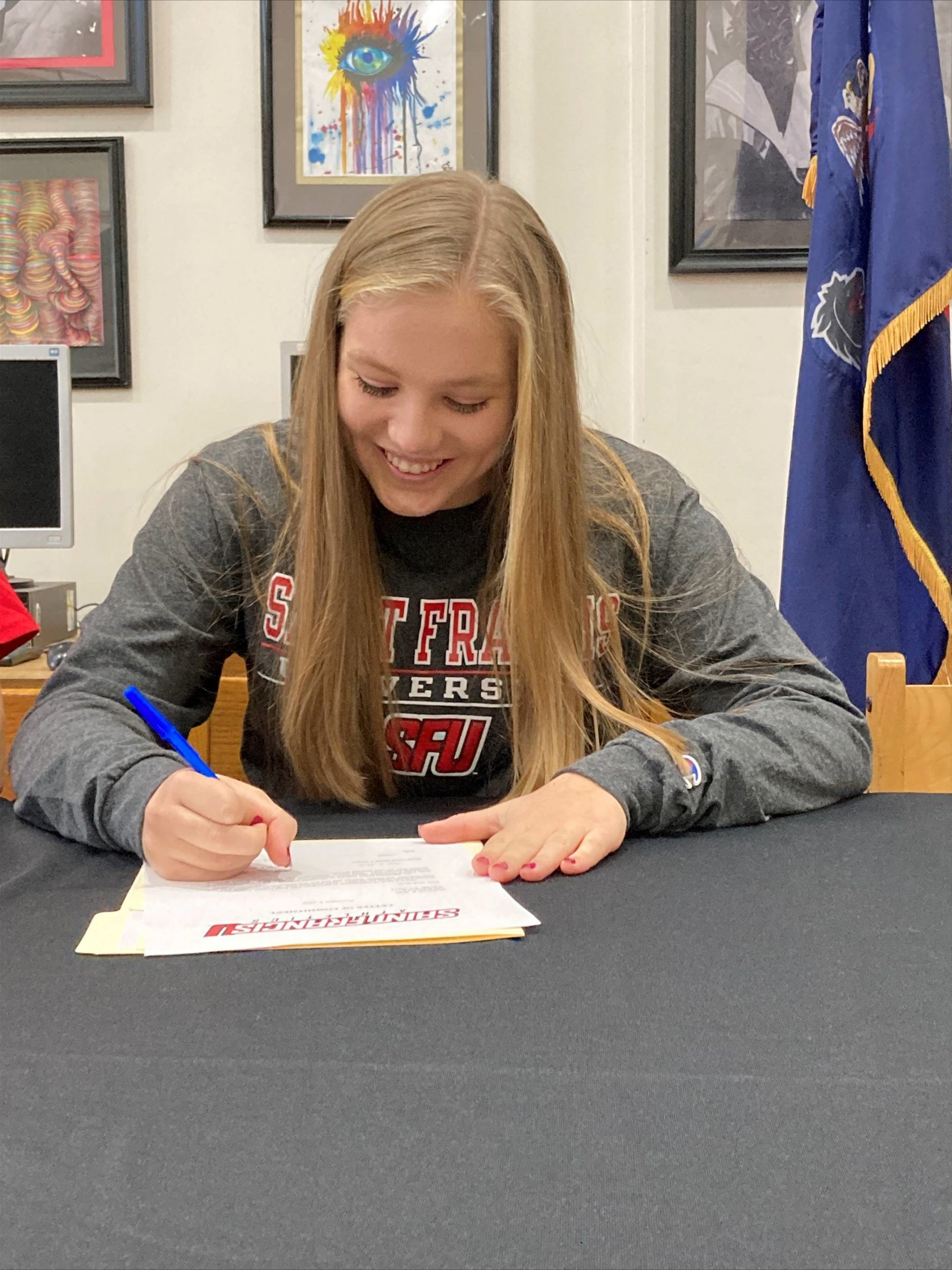 Congratulations to McKenzie Watt on signing to swim at Saint Francis University next year.