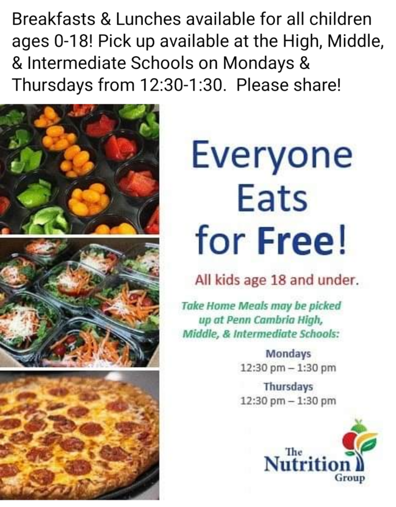 Free Meals for All Kids Age 18 and Under.