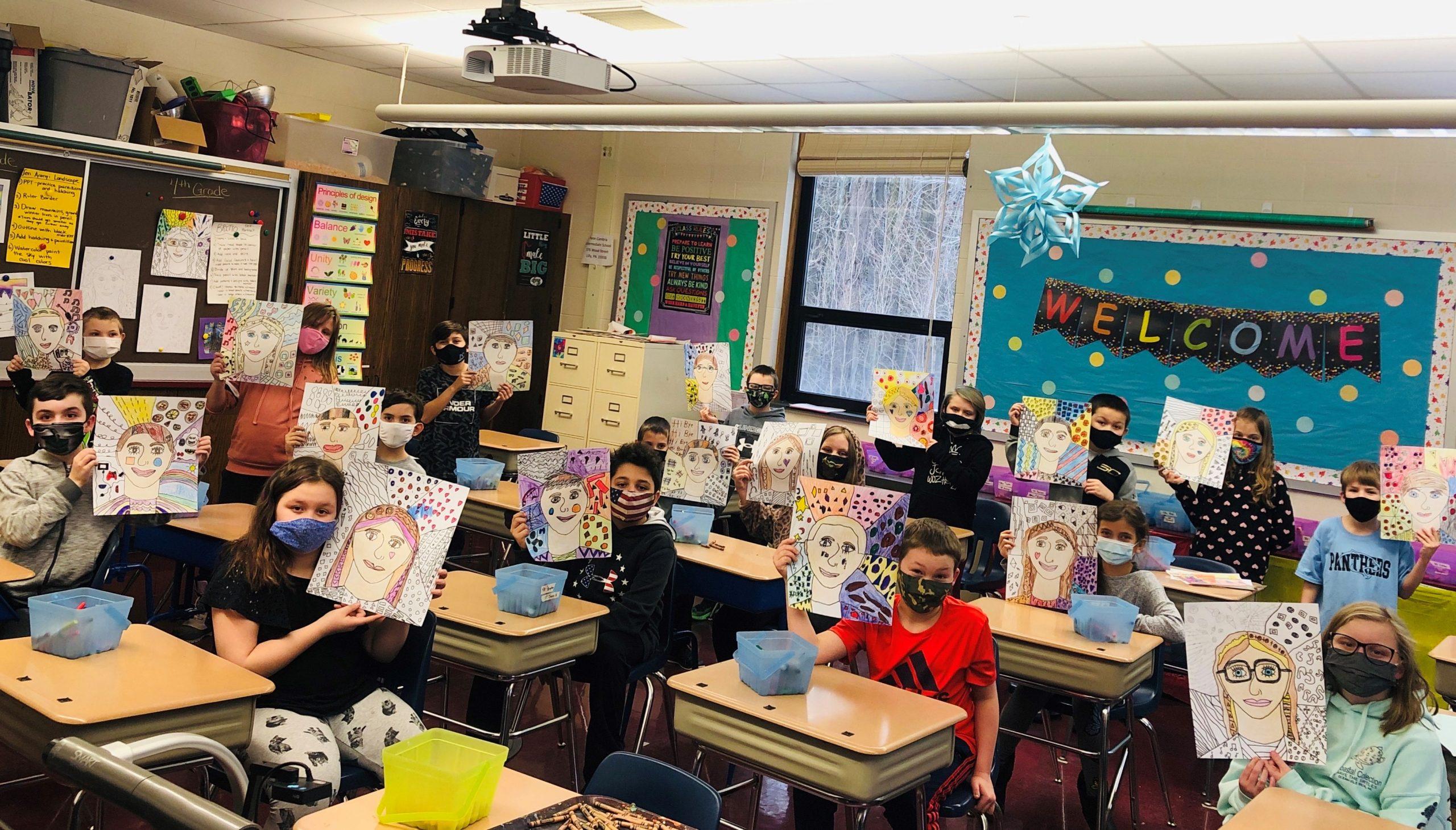 4th Grade Art – Mrs. Baker homeroom