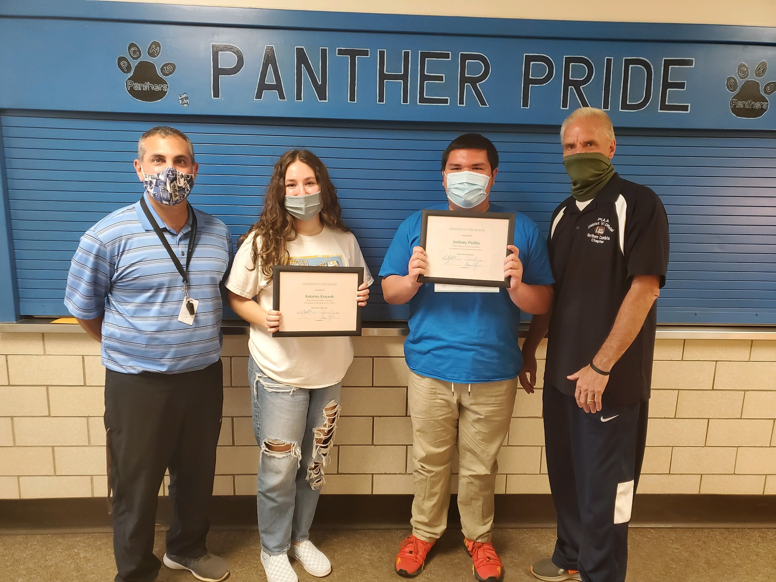 May Lions Club Students of Month
