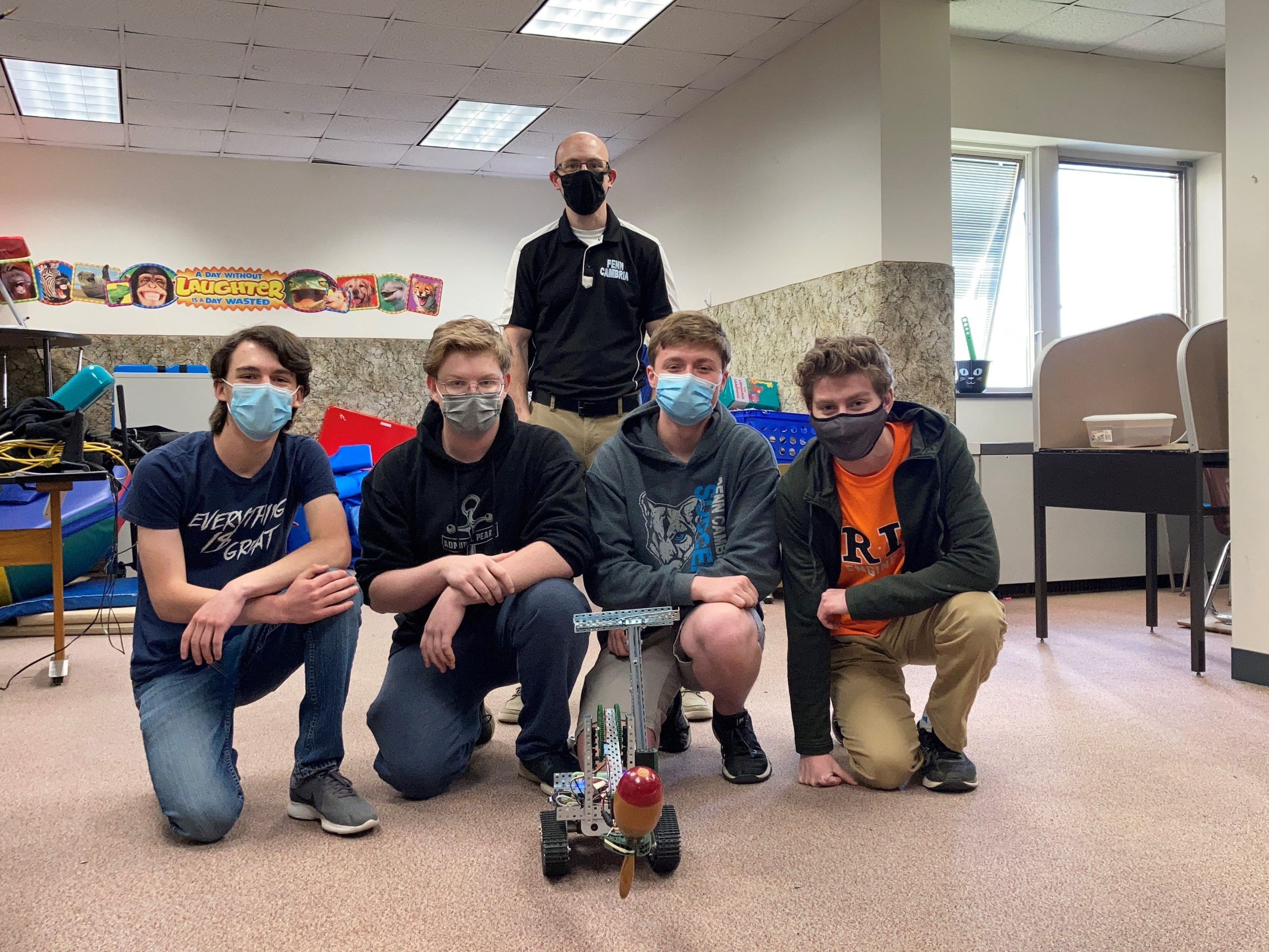 Congratulations to the PCHS Team that won first place in the Sea, Air, and Land Challenge!